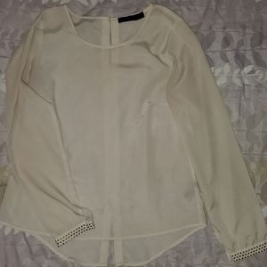 The Limited Cream Long Sleeve Blouse
